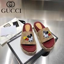 GUCCI-09 新款 最新限量版Gucci Summer厚底拖鞋