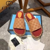 GUCCI-006 新款 最新限量版Gucci Summer厚底拖鞋