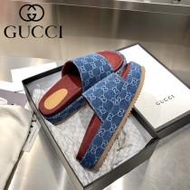 GUCCI-02 新款 最新限量版Gucci Summer厚底拖鞋