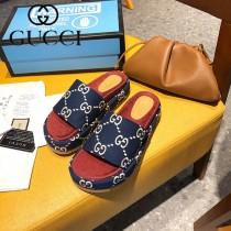 GUCCI-003 新款 最新限量版Gucci Summer厚底拖鞋