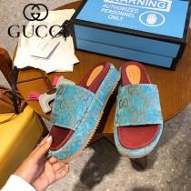 GUCCI-002 新款 最新限量版Gucci Summer厚底拖鞋