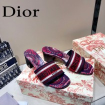 Dior-06  代購頂級春夏膠囊系列立體刺繡度假字母拖