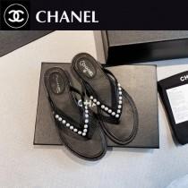Chanel-01  2020春季新款 珍珠人字拖鞋
