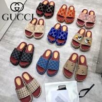 GUCCI-11 新款 最新限量版Gucci Summer厚底拖鞋
