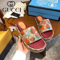 GUCCI-008 新款 最新限量版Gucci Summer厚底拖鞋
