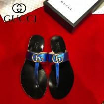 GUCCI-05  頂級版本春夏新款G字母T型夾趾涼拖