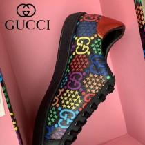GUCCI-02 原單新款迷幻跳跳糖早春Disney x Gucci Ace系列女士GG運動鞋