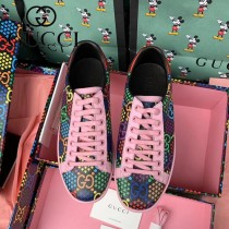 GUCCI-01 原單新款迷幻跳跳糖早春Disney x Gucci Ace系列女士GG運動鞋