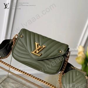 LV 原單新款 M56471 綠色Multi Pochette New Wave手袋