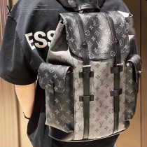 原單 M45419 銀黑花 CHRISTOPHER 小號雙肩包