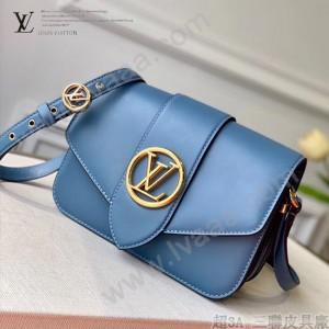 LV M55947 藍色 原單牛皮新款  Pont 9 手袋