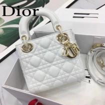 DIOR迪奧-016 原版皮3格DiorLady戴妃包 鏈條120cm 可調節皮肩帶