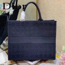 DIOR迪奧-01 原版皮新款刺繡Dior Book Tote購物袋手提包