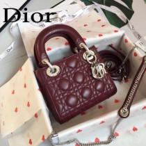 DIOR迪奧-012 原版皮3格DiorLady戴妃包 鏈條120cm 可調節皮肩帶
