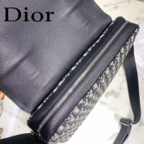 迪奧9055 原版皮 Dior最新款Oblique 圖案提花斜掛包