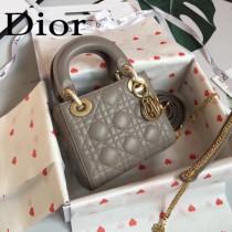 DIOR迪奧-011 原版皮3格DiorLady戴妃包 鏈條120cm 可調節皮肩帶
