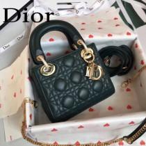 DIOR迪奧-010 原版皮3格DiorLady戴妃包 鏈條120cm 可調節皮肩帶