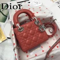 DIOR迪奧-014 原版皮3格DiorLady戴妃包 鏈條120cm 可調節皮肩帶