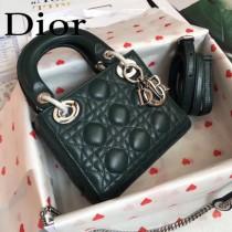 DIOR迪奧-09 原版皮3格DiorLady戴妃包 鏈條120cm 可調節皮肩帶