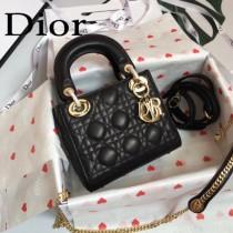 DIOR迪奧-013 原版皮3格DiorLady戴妃包 鏈條120cm 可調節皮肩帶