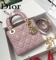 DIOR迪奧-020 原版皮3格DiorLady戴妃包 鏈條120cm 可調節皮肩帶