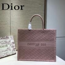 DIOR迪奧-02 原版皮新款刺繡Dior Book Tote購物袋手提包