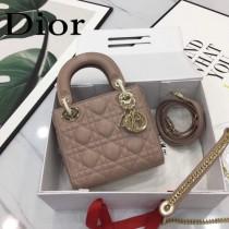 DIOR迪奧-017 原版皮3格DiorLady戴妃包 鏈條120cm 可調節皮肩帶