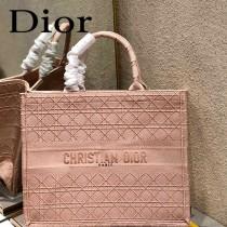 Dior迪奧-01  原版皮大號格纹 Book Tote 購物袋