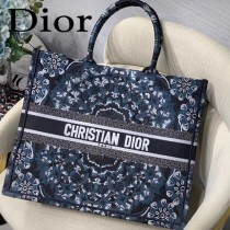 DIOR-015 迪奧原版皮新圖案新款刺繡Dior Book Tote購物袋手提包