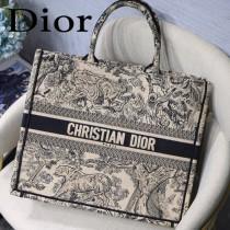 DIOR-02 迪奧原版皮新圖案新款刺繡Dior Book Tote購物袋手提包