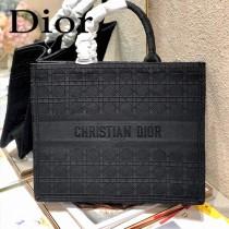 Dior迪奧-03  原版皮大號格纹 Book Tote 購物袋