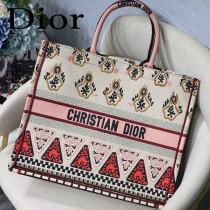 DIOR-021 迪奧原版皮新圖案新款刺繡Dior Book Tote購物袋手提包