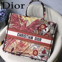 DIOR-017 迪奧原版皮新圖案新款刺繡Dior Book Tote購物袋手提包