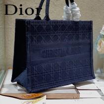 Dior迪奧-04  原版皮大號格纹 Book Tote 購物袋