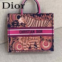 DIOR-05 迪奧原版皮新圖案新款刺繡Dior Book Tote購物袋手提包