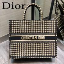DIOR-01 迪奧原版皮新圖案新款刺繡Dior Book Tote購物袋手提包