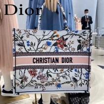 M1286-01 DIOR迪奧原版皮月季花新款刺繡Dior Book Tote購物袋手提包