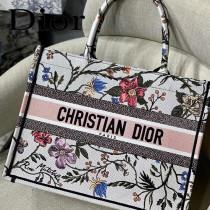 M1286 DIOR迪奧原版皮月季花新款刺繡Dior Book Tote小號購物袋手提包