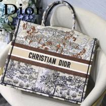 DIOR-011 迪奧原版皮新圖案新款刺繡Dior Book Tote購物袋手提包