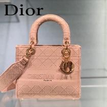 DIOR-03 迪奧全新Lady Dior 刺繡菱格系列戴妃包
