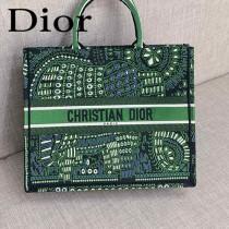 DIOR-06 迪奧原版皮新圖案新款刺繡Dior Book Tote購物袋手提包
