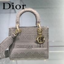 DIOR-02 迪奧全新Lady Dior 刺繡菱格系列戴妃包