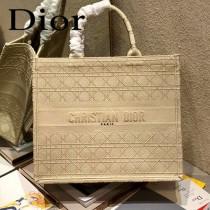 Dior迪奧-02  原版皮大號格纹 Book Tote 購物袋