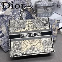 DIOR-020 迪奧原版皮新圖案新款刺繡Dior Book Tote購物袋手提包