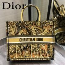 DIOR-09 迪奧原版皮新圖案新款刺繡Dior Book Tote購物袋手提包