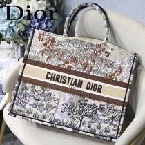 DIOR-07 迪奧原版皮新圖案新款刺繡Dior Book Tote購物袋手提包