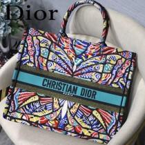 DIOR-016 迪奧原版皮新圖案新款刺繡Dior Book Tote購物袋手提包