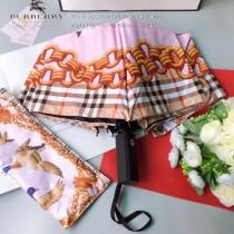 巴寶莉(BURBERRY) 專櫃夏季新款 遮陽傘 全自動折疊晴雨傘 新塗層技術深色傘布