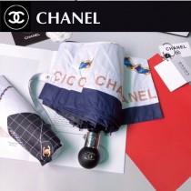 CHANEL香奈兒經典菱格鏈條包包圖案自動雨傘