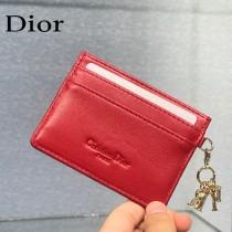 0126-07  Dior LADY DIOR 平蓋卡夾革藤格紋漆皮 原版皮